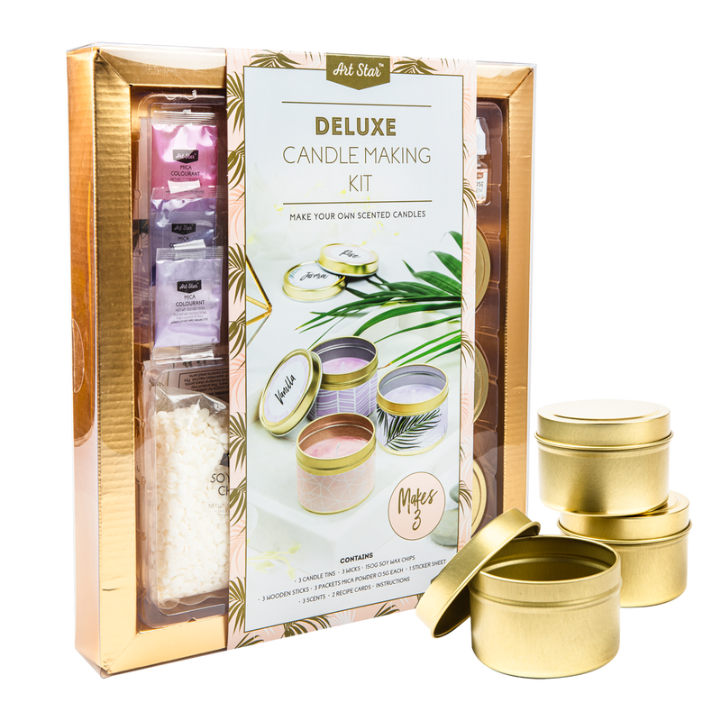 Beige Art Star Deluxe Candle Making Kit Makes 3 Candles Kids Kits