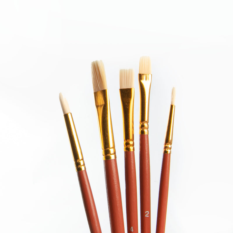 Saddle Brown The Art Studio Brush and Palette Knife Tube 25pc Brushes