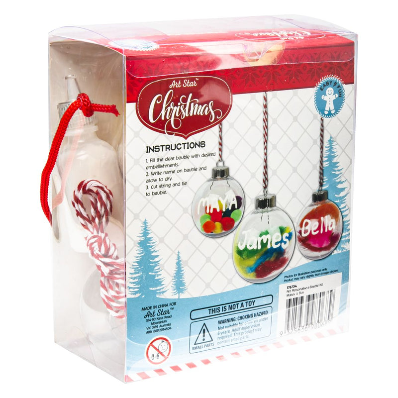 Brown Art Star Personalise A Bauble Kit Makes 4 Christmas