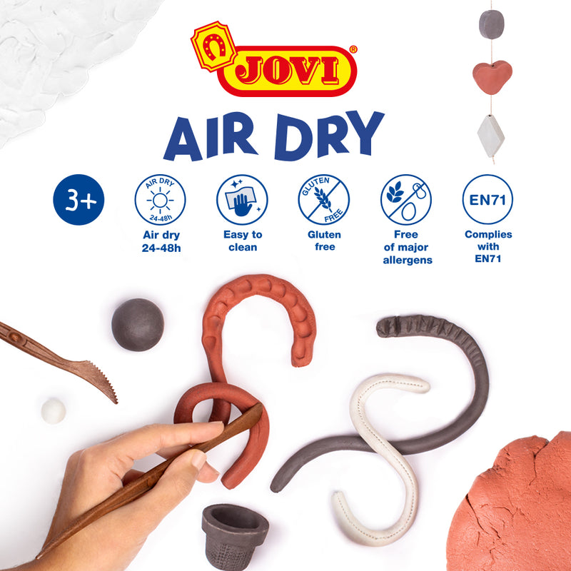 Jovi Air Dry Modelling Paste Terracotta 500g