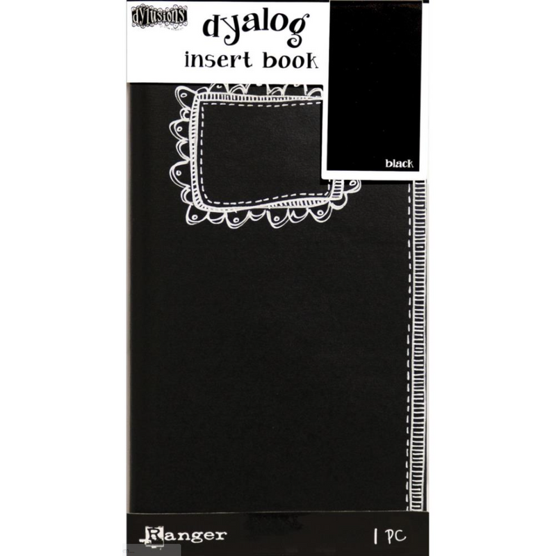 Black Dyan Reaveley's Dylusions Dyalog Insert Book 11x21cm - Black