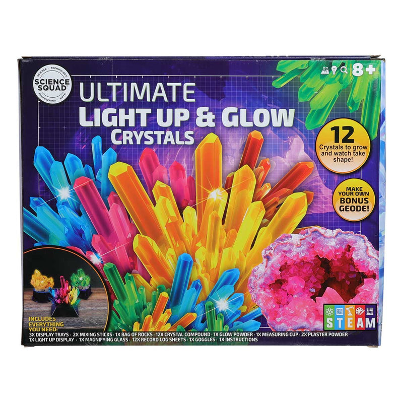 Goldenrod Science Squad Ultimate Light Up Crystal Growing Kit Kids Kits