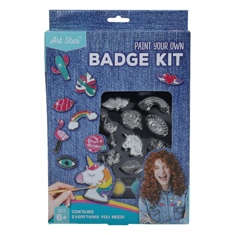 Slate Gray Art Star Decorate Your Own Badge Kit Kids Kits