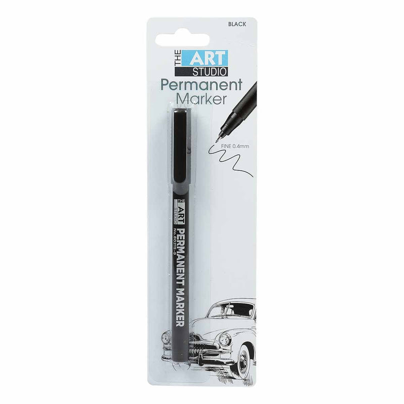 Lavender The Art Studio Permanent Marker Fine 0.4mm Black Pens