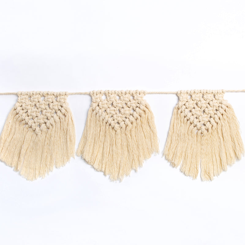 Wheat Isabella Macrame Bunting Craft Kit - Grey Macrame