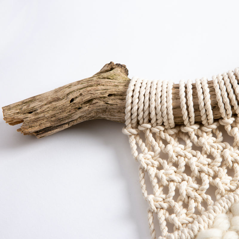 Dim Gray Macrame Weave Craft Kit  - Natural Cream Macrame