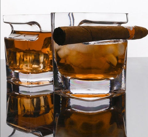 Shop Whiskey Glass with Cigar Holder ¦ Cigar Whisky Glass A Wine Lovers