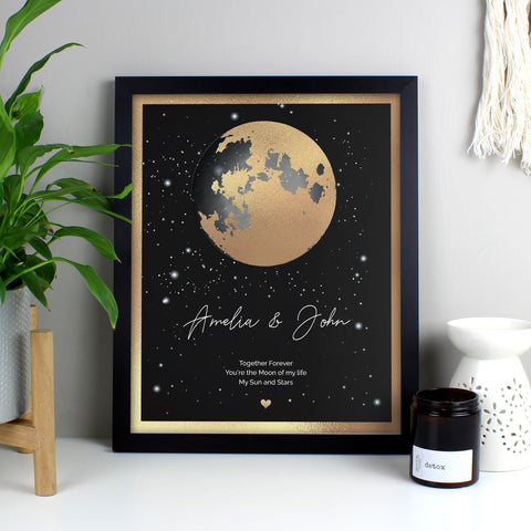 Personalised You Are My Sun My Moon Black Framed Print Gifts for Couples