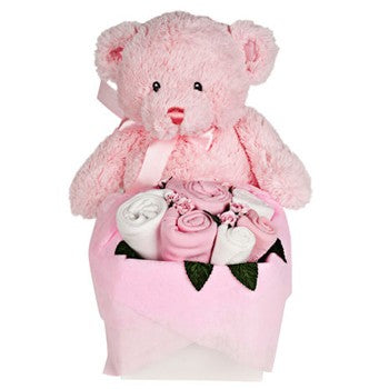 Teddy Bear Bouquet  Set for a Baby Girl Gifts ¦ Baby Girl Gift Ideas.