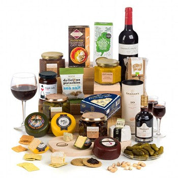 British Cheese & Wines Hamper Gifts ¦ Gourmet Basket Ideas  ¦ A Wine Lovers