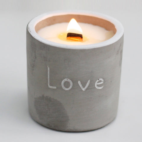 Concrete Wooden Wick Candles