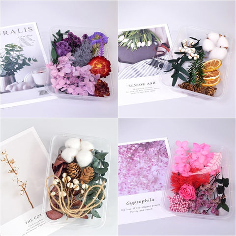 1 Box Random Real Dried Flowers Dry Plants For Aromatherapy Craft DIY