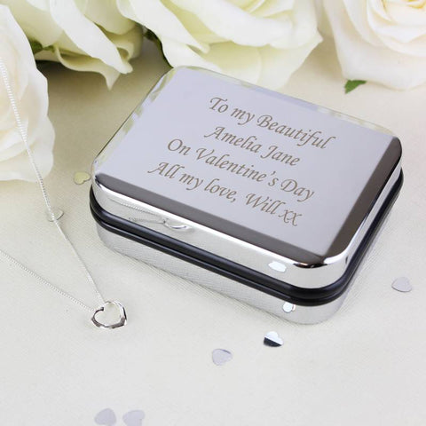 Heart Necklace With Personalised Box ¦ Engraved-Personalized-keepsake