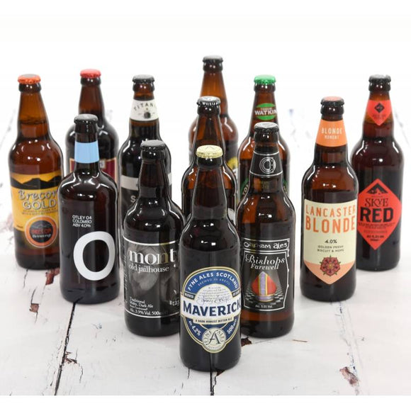 Three Nations Beer Gifts ¦ 12 of English, Welsh and Scottish Ales ¦ A Wine Lovers