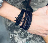 Braided Leather Bracelets Wrap for Men ¦ Beads & Leather Bracelet Wrap A Wine Lovers