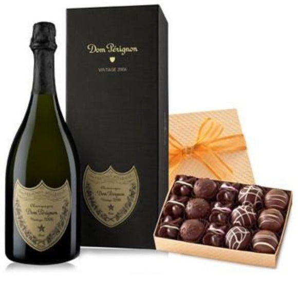 Dom Pérignon and a Box of Truffles Chocolate Gifts Set ¦ A Wine Lovers A Wine Lovers