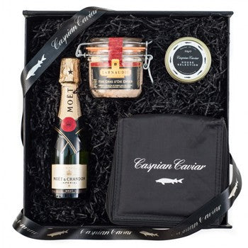 Caspian Caviar & Champagne & Goose Foie Gras Gift Sets  Free Delivery A Wine Lovers