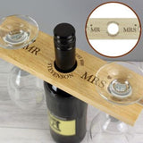 Personalised Married Couple Wine Glass & Bottle Butler Gift Set Online A Wine Lovers