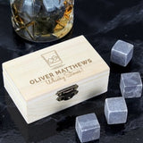 Whisky Stones ¦Personalised Whisky Stones Gifts  Set For DAD ¦ 8 Granite Chilling A Wine Lovers