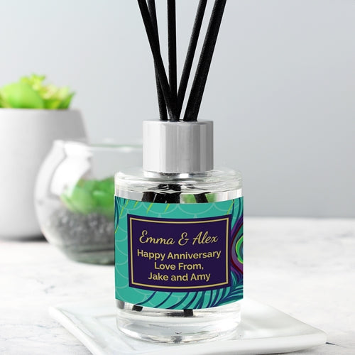 Personalised Peacock Reed Diffuser ¦  Scented Peacock Reed Diffuser A Wine Lovers