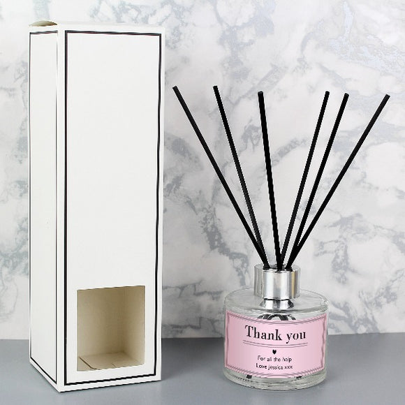 Personalised Classic Pink Reed Diffuser Gifts ¦ Home Pink Reed Diffuser A Wine Lovers