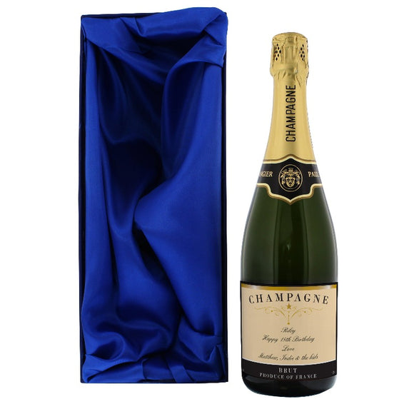 Personalised Any Message Classic Label Champagne with Box ¦ Gifts for Him ¦ A Wine Lovers