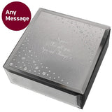 Personalised Any Message Diamante Glass Trinket Box ¦ Birthday Box Gift