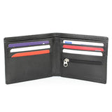 Personalised Leather Wallet with Zipper Closure ¦ Coin Purse for Men with Zip A Wine Lovers