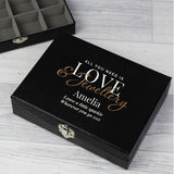 Personalised Love & Jewellery Organiser Box Gift ¦ Love Jewelry Box A Wine Lovers