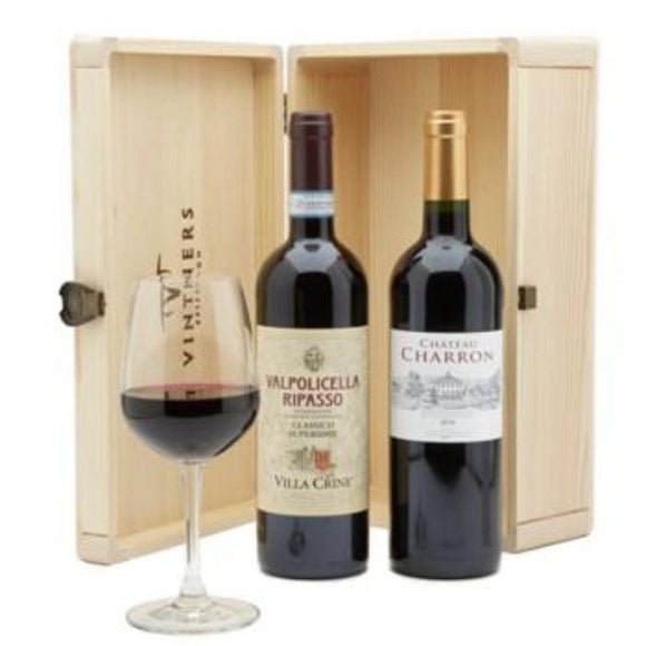 Red Duo Wine Gift Sets & Wine Hampers ¦ 2 bottles of Wine Gift Hamper A Wine Lovers