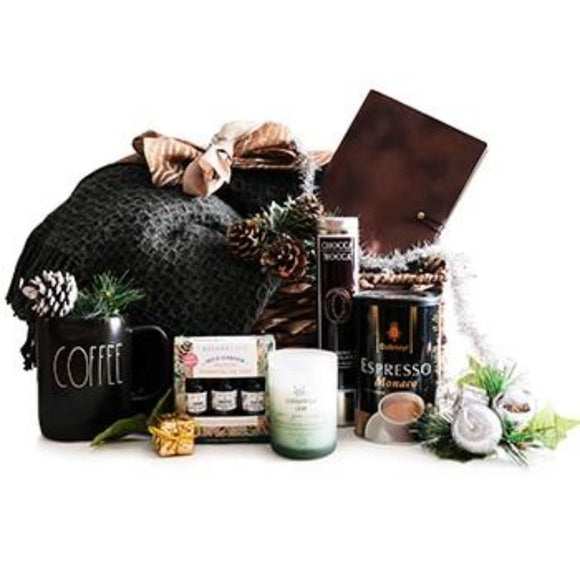 Secretary Surprise ¦ Coffee, Hot Chocolate, Scented Candle & Blanket Gift