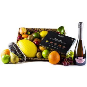 Prosecco Rose & Chocolate & Fresh Fruit Basket Gifts ¦ A Wine Lovers