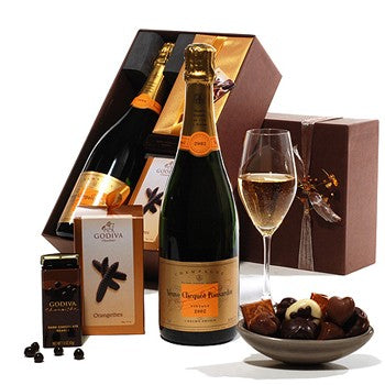 Veuve Clicquot Champagne,Truffles, and Godiva Dark Chocolate ¦ A Wine Loves
