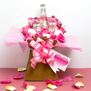Pink Gin & Tonic and Lindor Chocolate Bouquet Gift Set ¦ A Wine Lovers