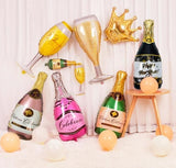Champagne Gold Super Shape Glasses Bottles  Balloons - A Wine Lovers