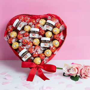 "Send Chocolate Heart Tray ""I LOVE YOU"" ¦ Chocolate Heart for Valentine A Wine Lovers"