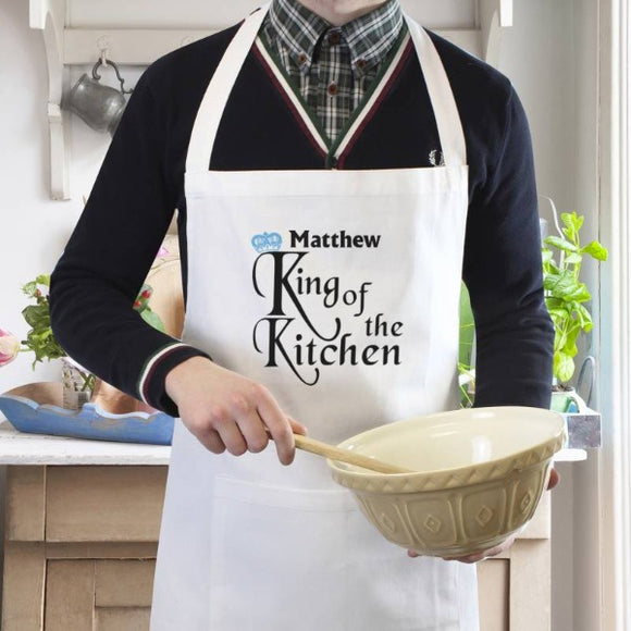 Personalised King of the Kitchen Apron ¦ Apron Gifts for Men ¦ Cooking Aprons UK  A Wine Lovers