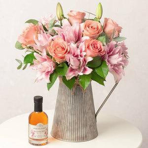 Raspberry Gin, Roses & L'or du Roselily Isabella lilies Gift for Her ¦ A Wine Lovers