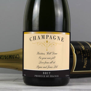 Personalised  Champagne ¦ Personalised Message Classic Label Champagne A Wine Lovers