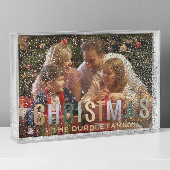 Personalised Christmas Glitter Shaker Photo Frame ¦ Glitter Photo Frame A Wine Lovers
