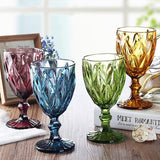 Wine Glass Cups ¦ Multicolor Carved Goblet Whiskey Red Wine Glasses