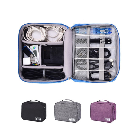 Cable Organizer Bag ¦ Travel Cable Organizer ¦ Wires Storage Case Set A wine lovers