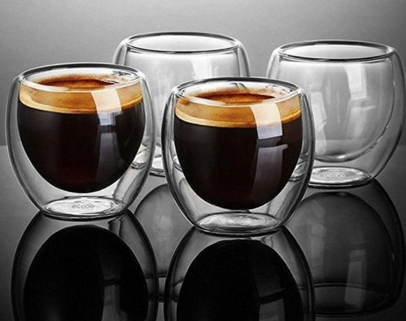 Double Wall Glass ¦ Espresso Coffee Tea Mug ¦ Beer Mug Whiskey Glass A Wine Lovers