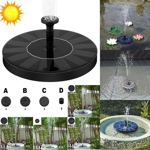 Floating Solar Fountain for Bird Bath, Pool, Fish Tank ¦ Solar Powered Bird Fountain! A Wine Lovers