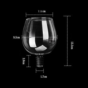 Drinking Directly from Bottle Wine Glass Goblet Champagne Cup Barware Perfect Gift