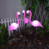 Flamingo Solar Lights ¦ Pink LED Lamp Ground Spike Powered for Outdoor Path A Wine Lovers