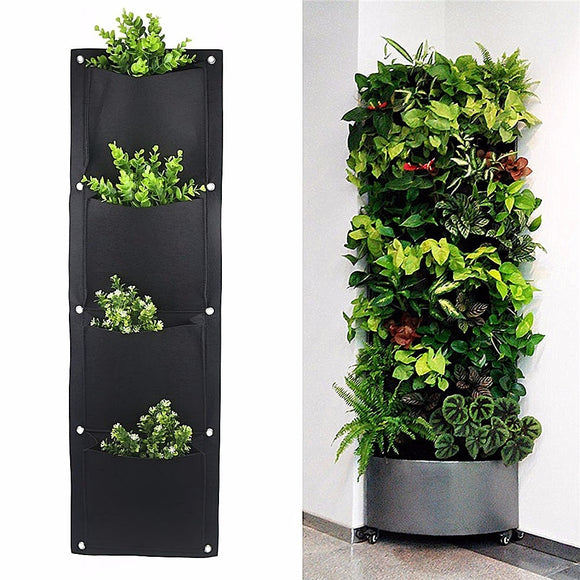 Vertical Gardening Pots Planter Hanging ¦ Vertical Pots Planter On Wall Green Field - A Wine Lovers