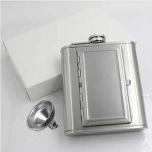 Whiskey Mini Bottle Stainless Steel Portable with Creative Cigarettes Case a wine lovers