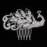 Bridal Hair Comb Wedding Hair Tiara ¦ Pretty Animal Leaf Flower Sparkly Crystal Tiara - A Wine Lovers