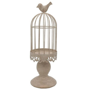 Bird Cage Candle Holders ¦ Vintage White Bird Cages Candle Holders - A Wine Lovers